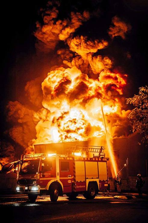 Apagando un incendio